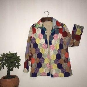 Vintage handmade quilt top jacket